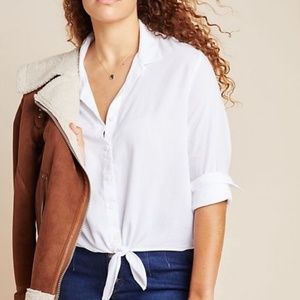 cloth & stone | White Tie Front Button Up